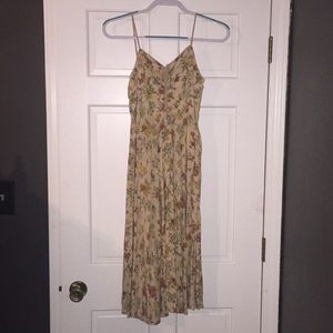 Nude Floral Anthropologie Dress